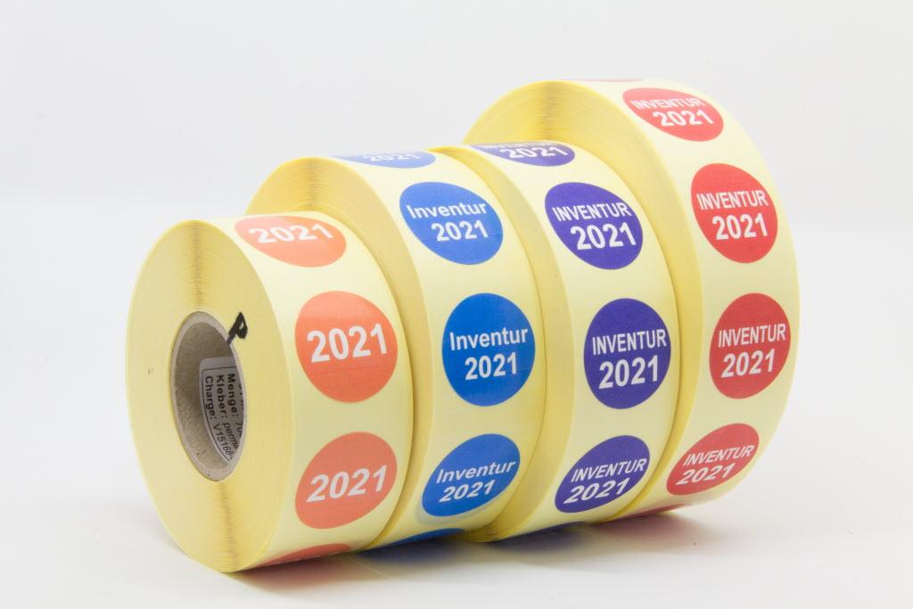 1000 Markierungspunkte 15 mm rund Folie rot 1 Rolle permanent n
